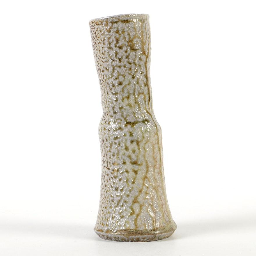 Karen Karnes Hand-Thrown Stoneware Salt Glazed Vase