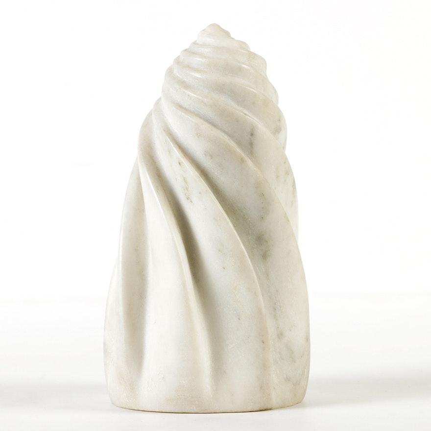 William Schneider Marble Spiral Sculpture