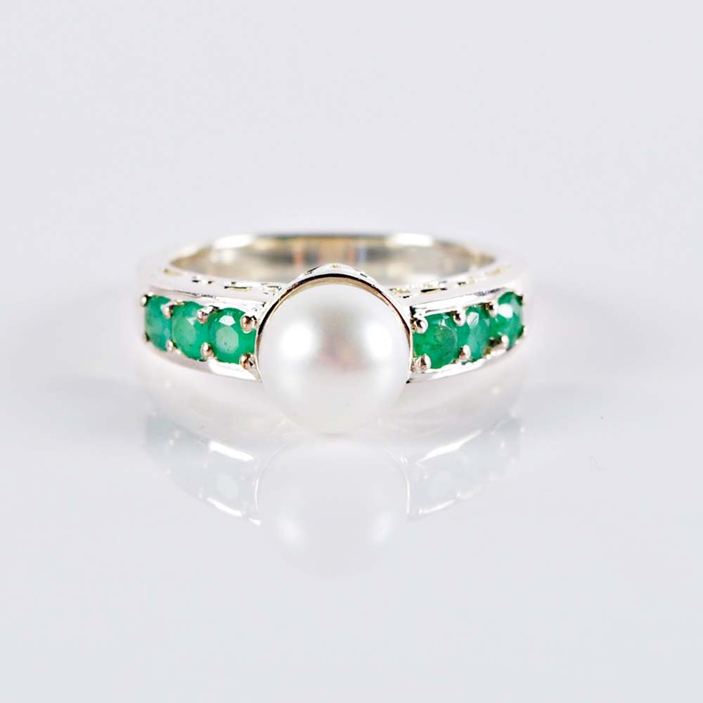 pearl and emerald ring ebth
