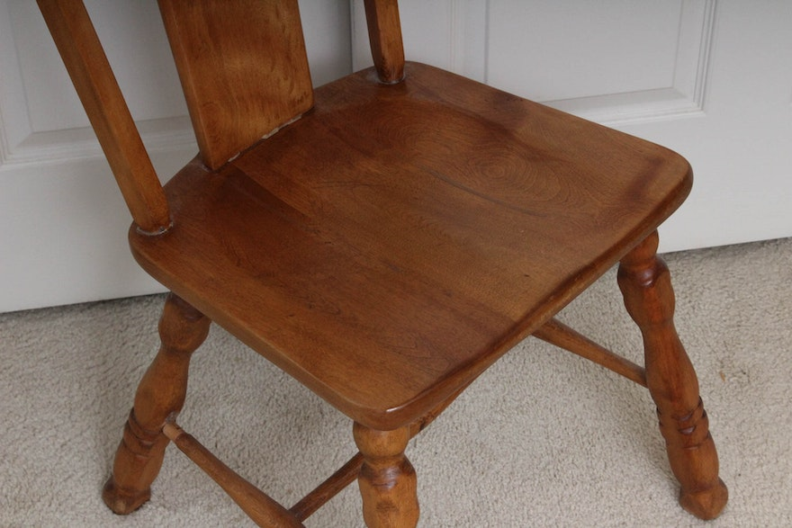 Vintage Maple Chair By Hale Furniture Ebth