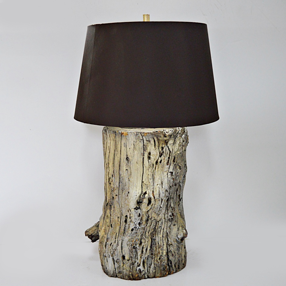 Tree Trunk Lamp in a Silver Finish : EBTH