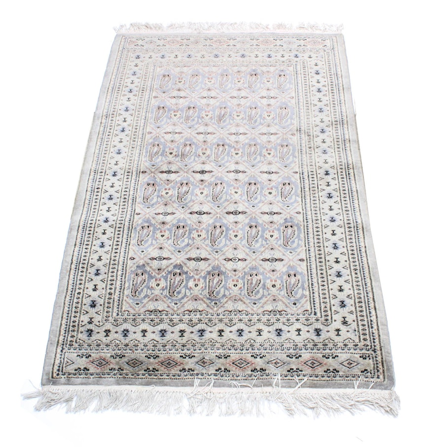 Persian Hand Knotted Kashan Silk And Wool Area Rug Ebth: Hand Knotted Persian Silk Area Rug : EBTH