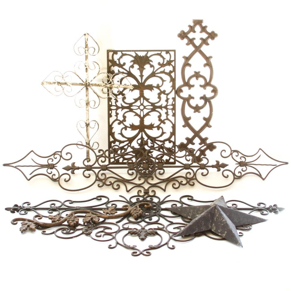 Decorative metal wall decor ebth for Deco metal mural
