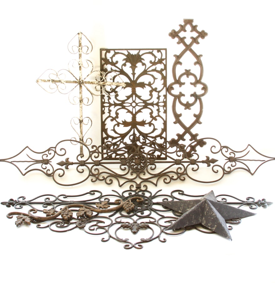decorative metal wall decor ebth. Black Bedroom Furniture Sets. Home Design Ideas