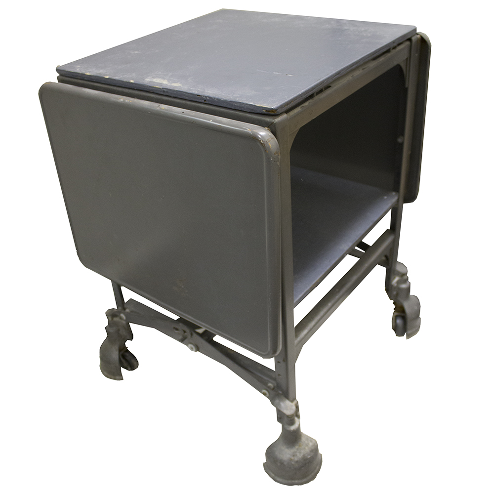 rolling office cart. Vintage Metal And Wood Rolling Office Cart/Desk Cart T