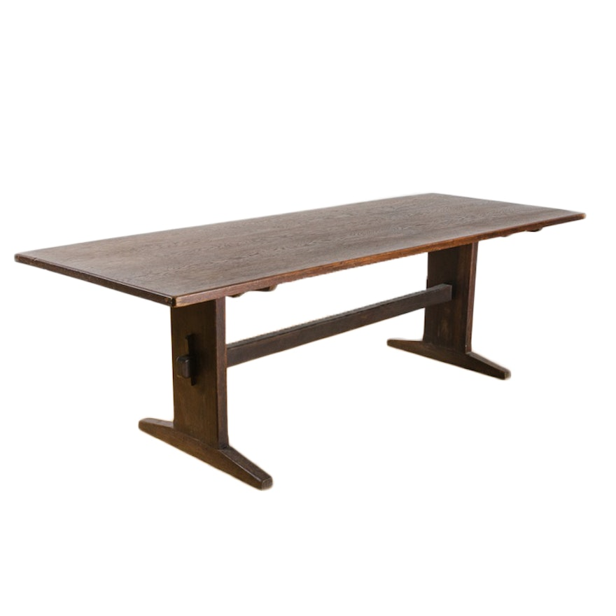 Vintage Arts and Crafts Oak Dining Table