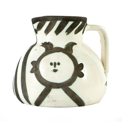 "Picasso ""Madoura"" Ceramic Pitcher"