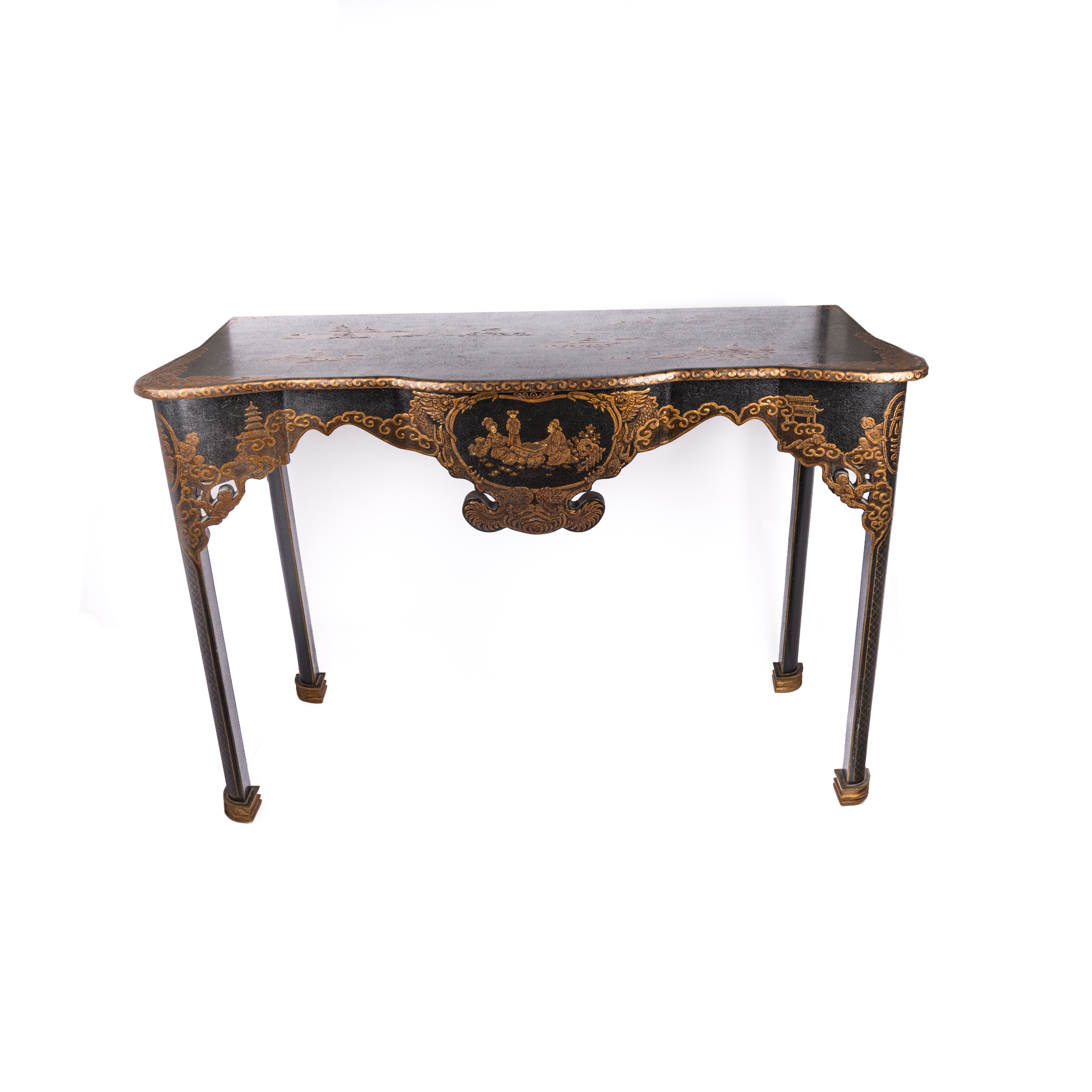 Chinoiserie Hand Painted Console Table ...