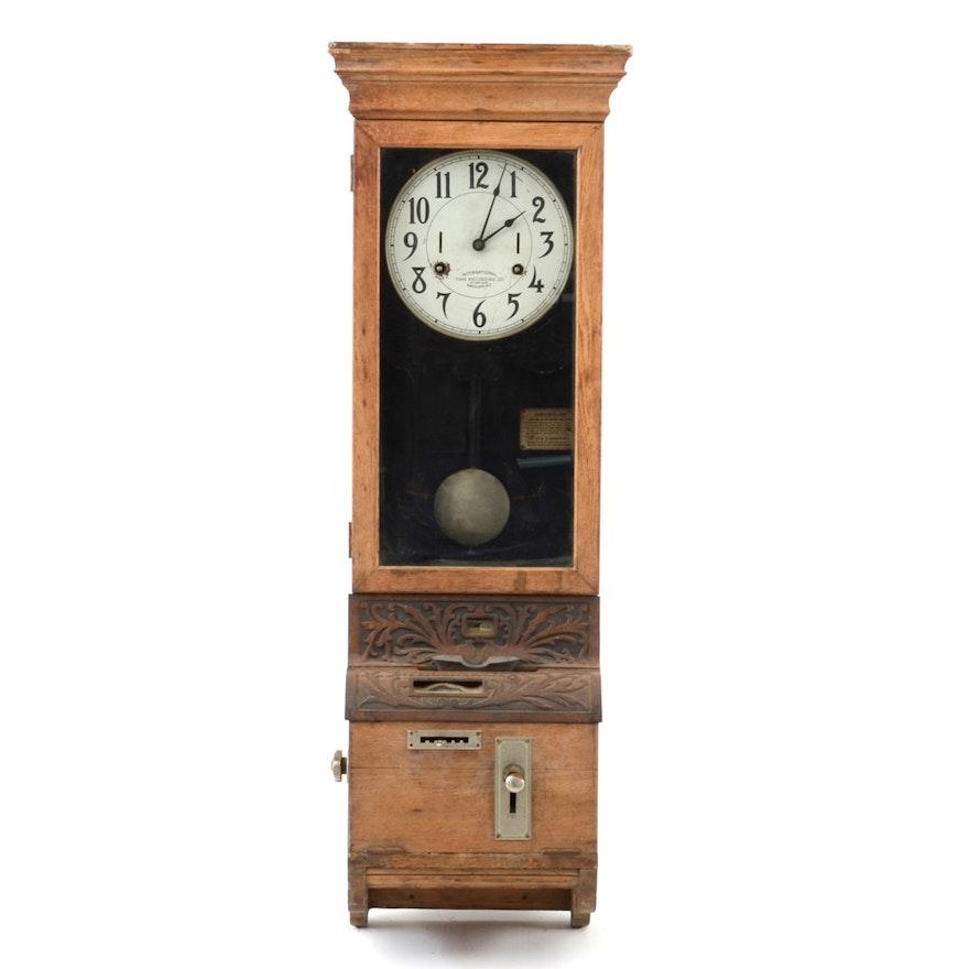 Antique Time Punch Clock Ebth