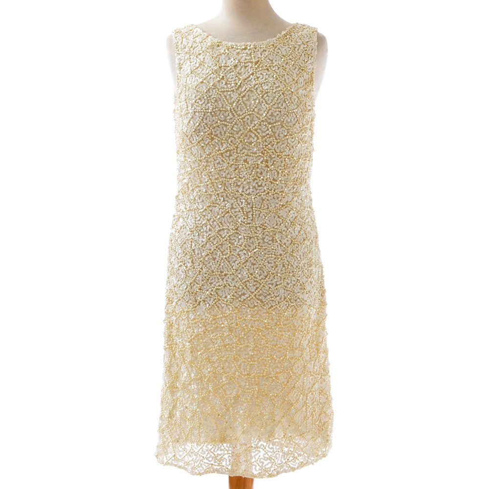Aidan Mattox Embellished Dress from the First White Party