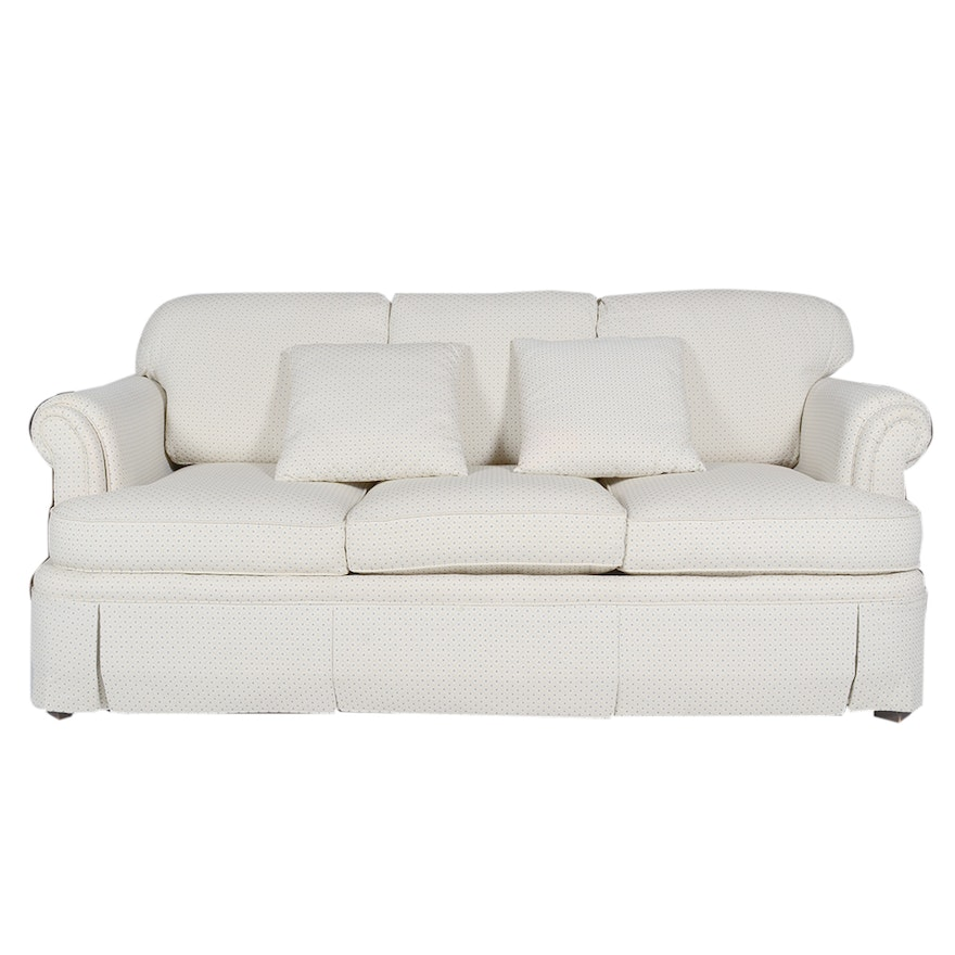 Harden Furniture Cream And Blue Dot Patterned Sofa