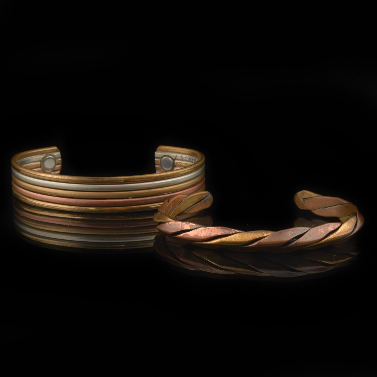 Copper and Brass Cuff Bracelets