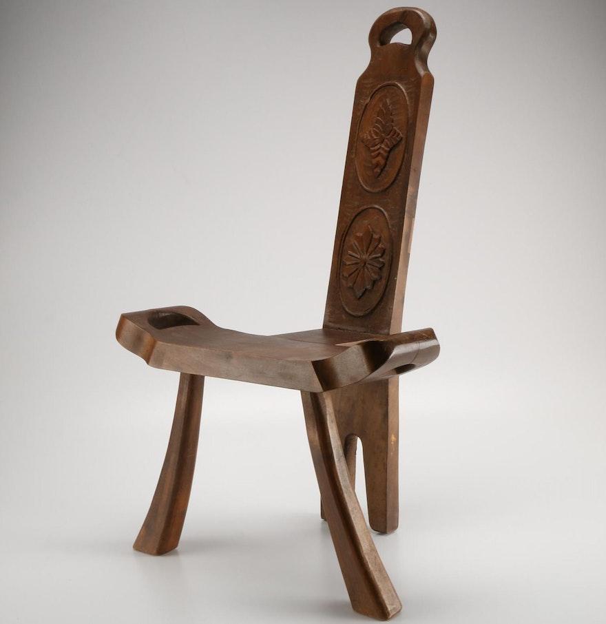 Modern birthing chair - 1910 Style Wood Birthing Stool