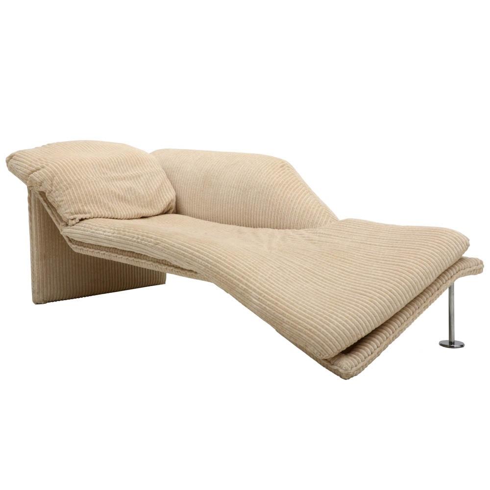 Milo Baughman Style Designer Chaise Lounge