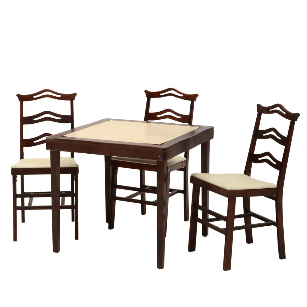 Folding Wood Card Table And Chairs Folding Table And