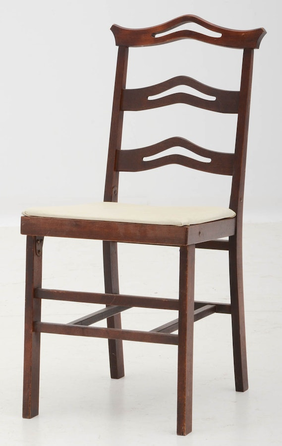 Vintage Folding Card Table And Chairs Ebth
