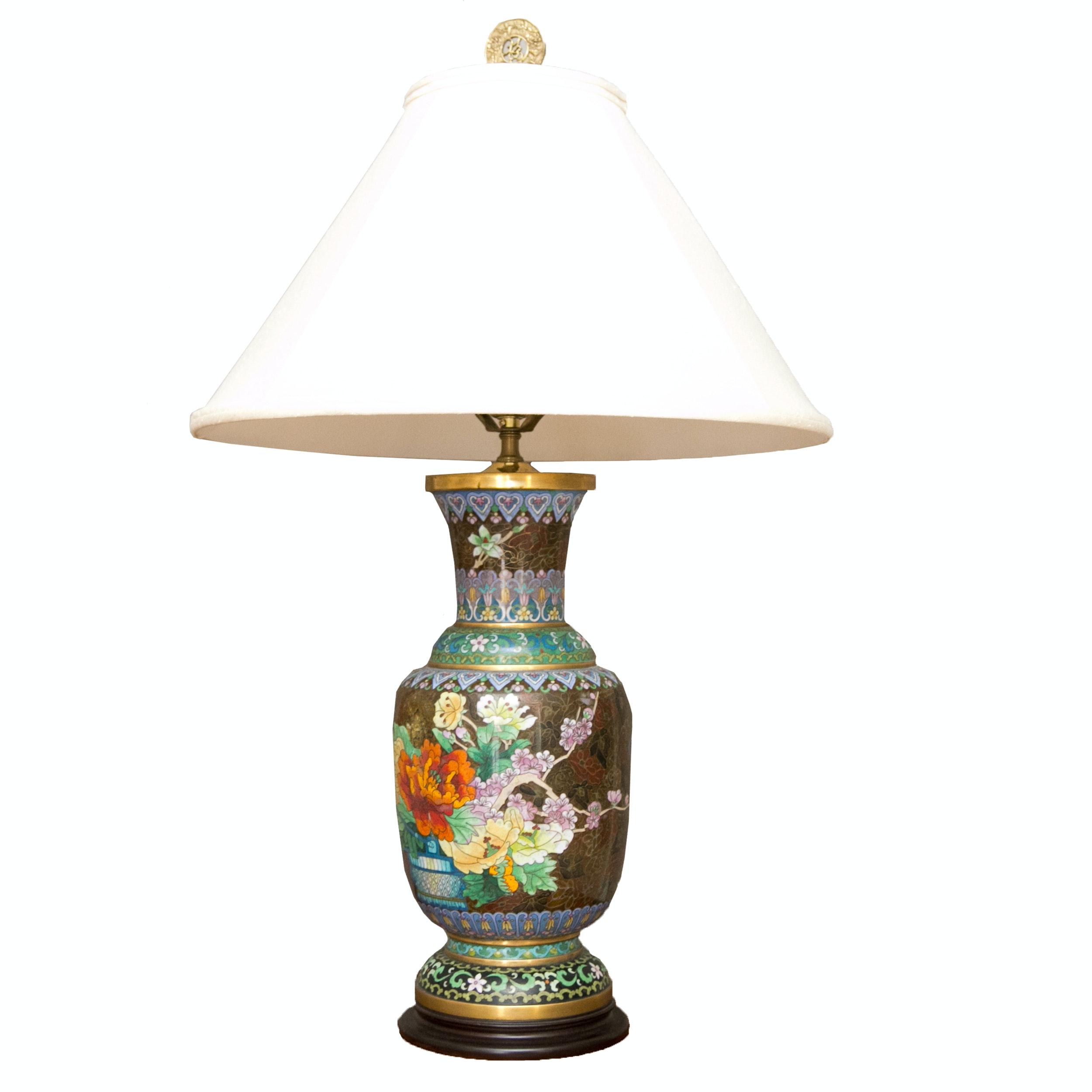 Vintage Japanese Cloisonn 233 Lamp Ebth