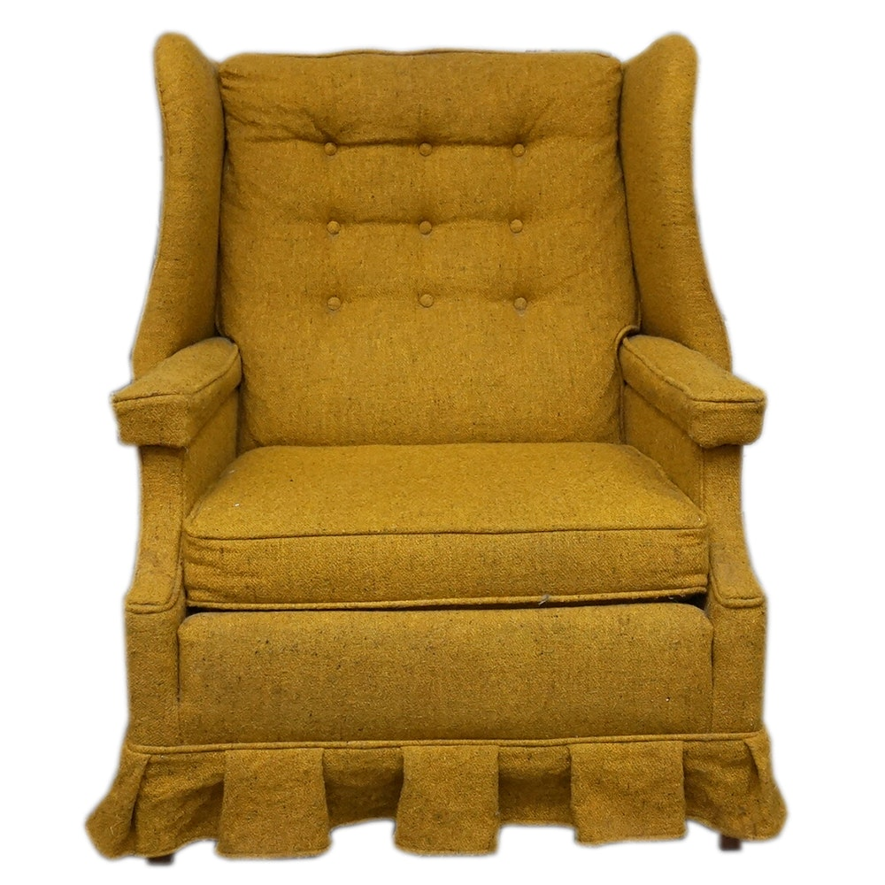 Vintage Mustard Yellow Accent Chair ...