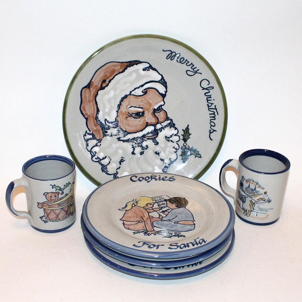 Louisville Stoneware Christmas Theme Tableware ... & Louisville Stoneware Christmas Theme Tableware : EBTH