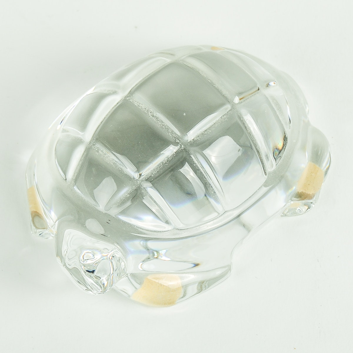 Baccarat Crystal Turtle Paperweight