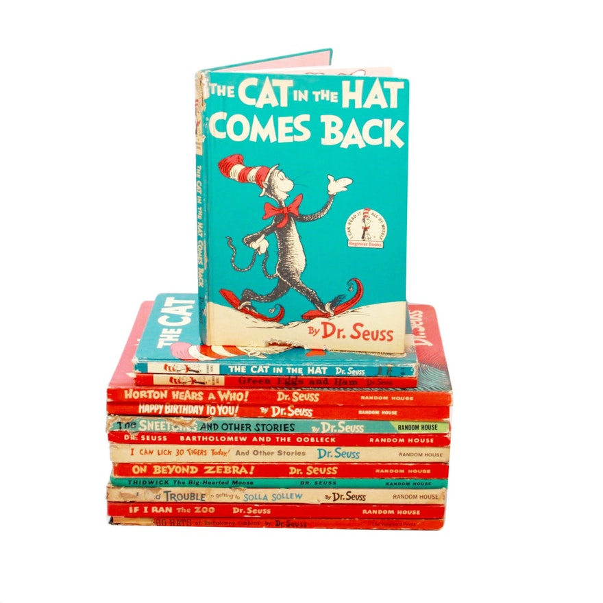 1938-1965 Dr. Seuss Books With First Book Club Edition