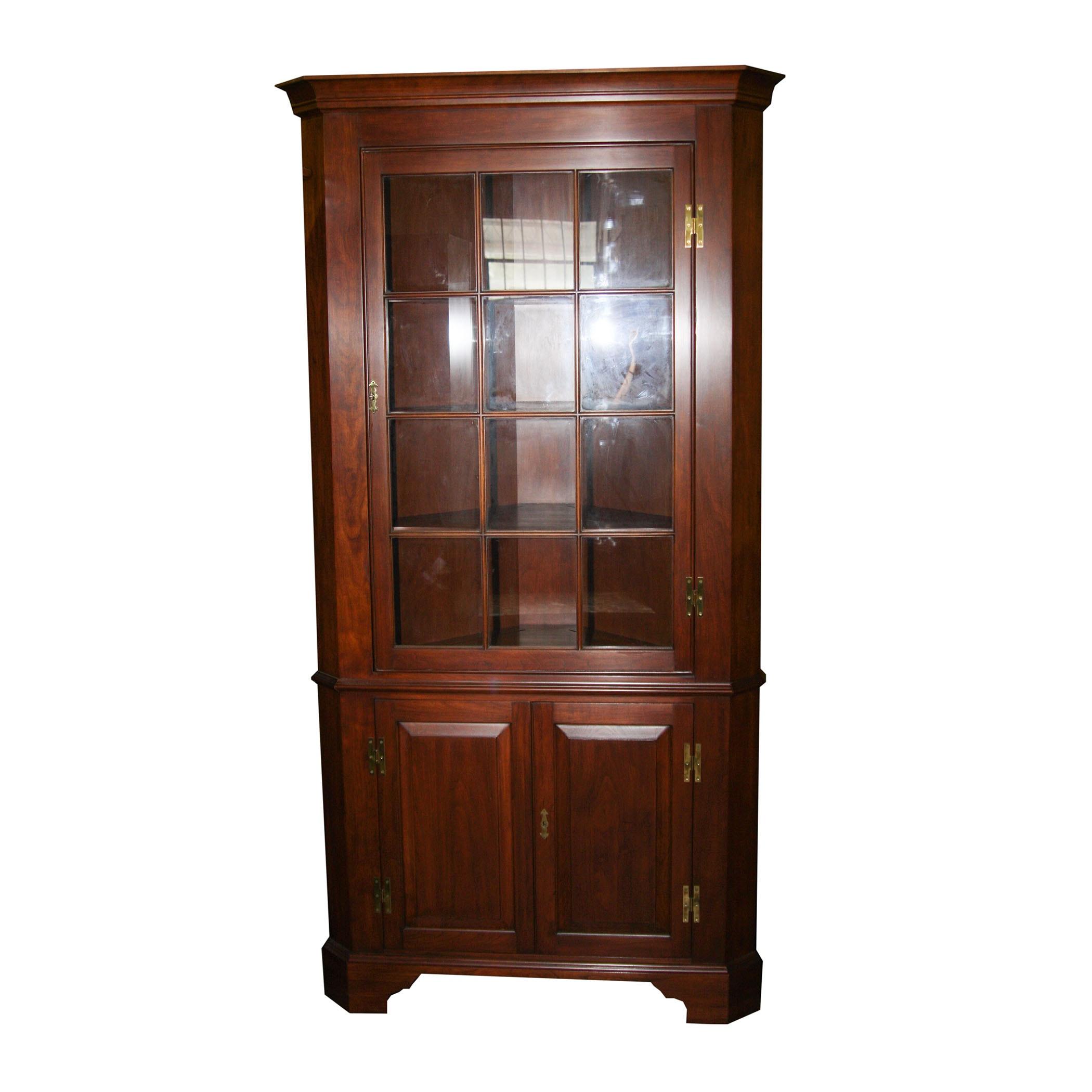 Henkel Harris Wood Corner China Cabinet