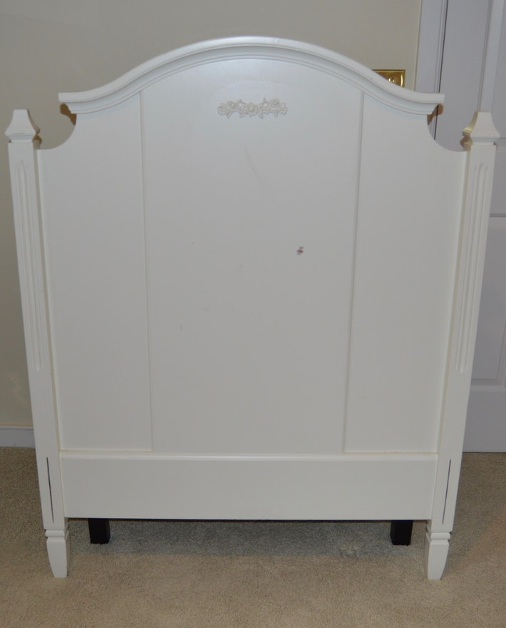 Shabby Chic Style Twin Bed Frame Pottery Barn Kids Ebth
