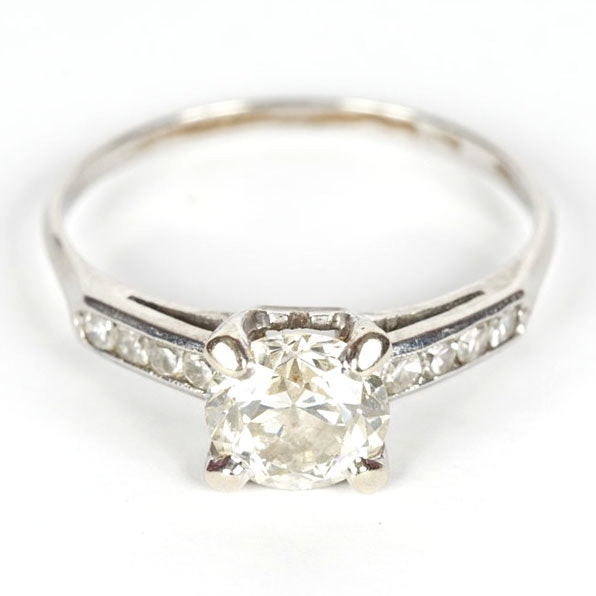 white gold platinum and engagement ring ebth