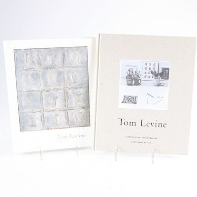 Two Signed Tom Levine Art Catalogs