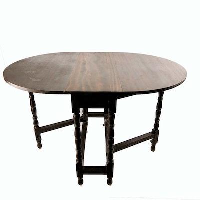 Vintage Ethan Allen Knotty Pine Drop Leaf Side Table Ebth