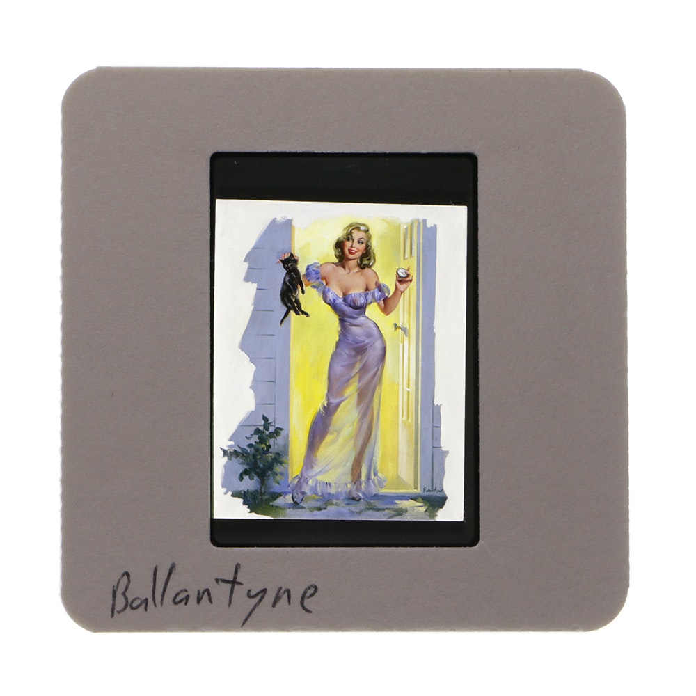 "35mm Slide of Joyce Ballantyne Pinup Art from ""The Great American Pinup"""