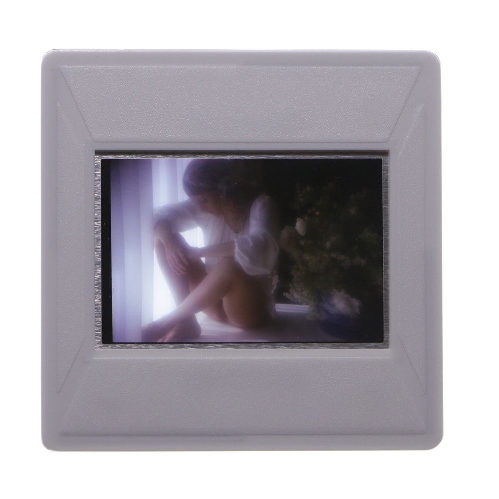 "Original 1970s ""Penthouse"" 35mm Slide of Marguerite Cordier by Bob Guccione"