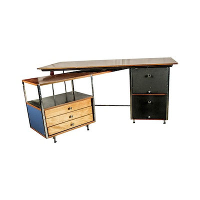 "Charles and Ray Eames for Herman Miller ""ESU"" Desk & Return"
