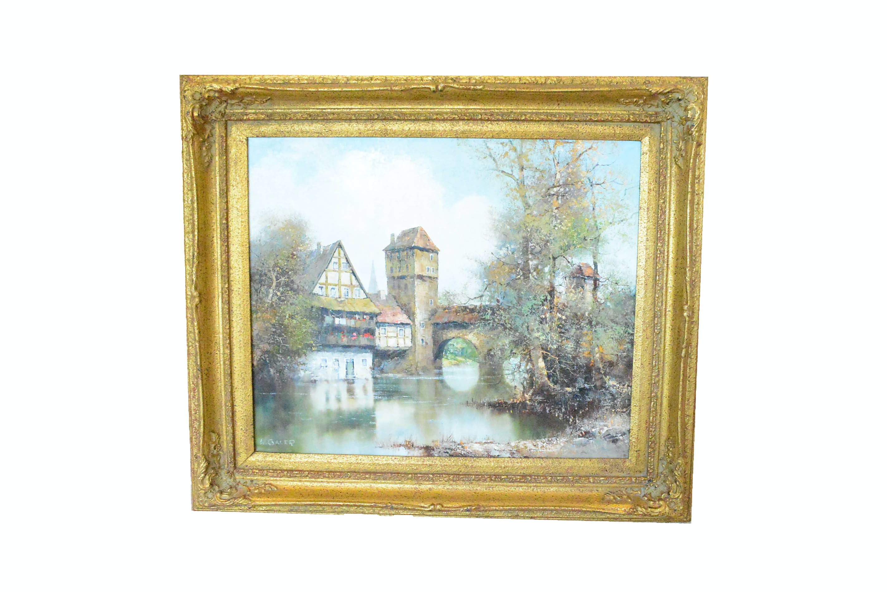 Framed Original Oil Painting by Willi Bauer