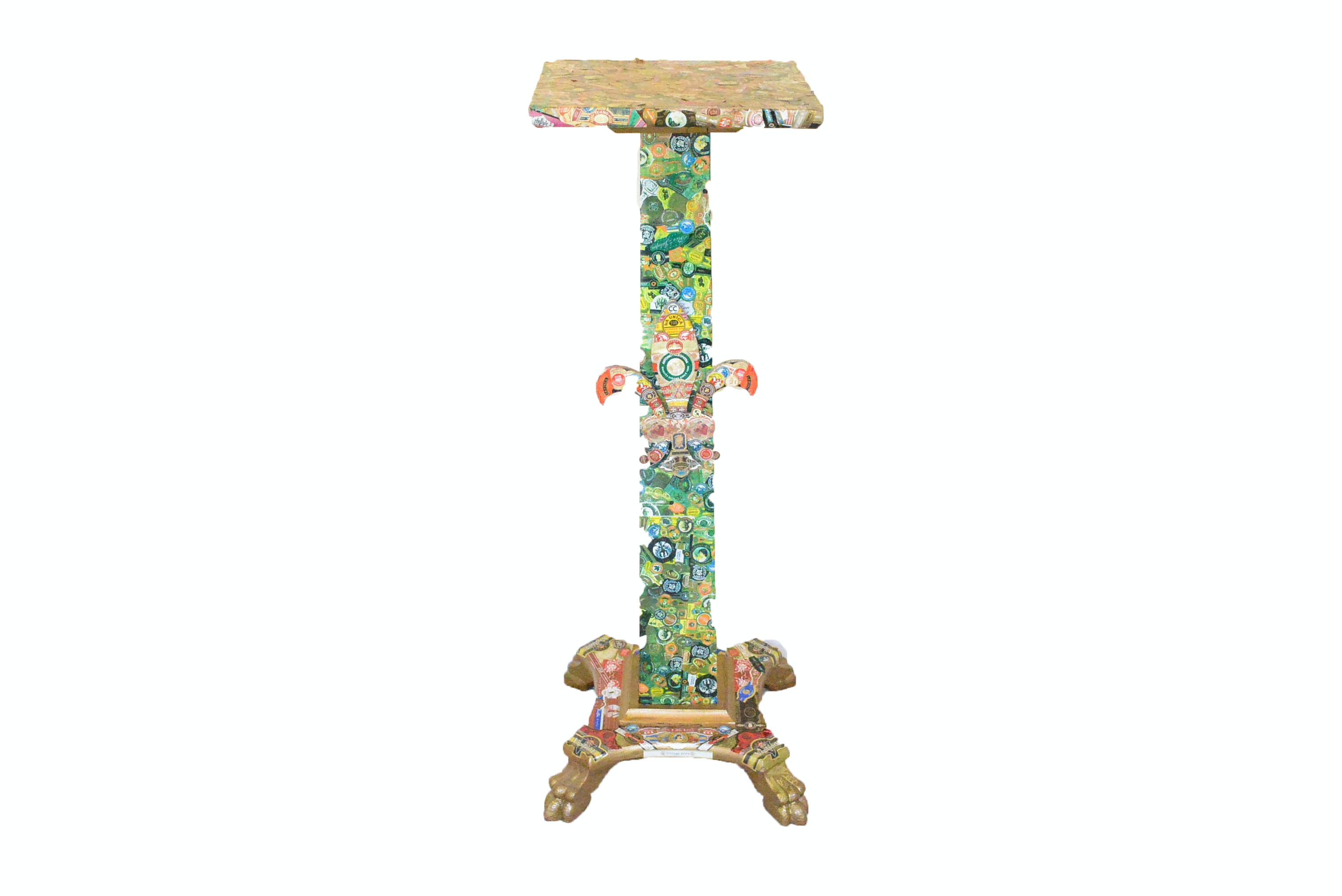 Folk Art Cigar Label Plant Stand