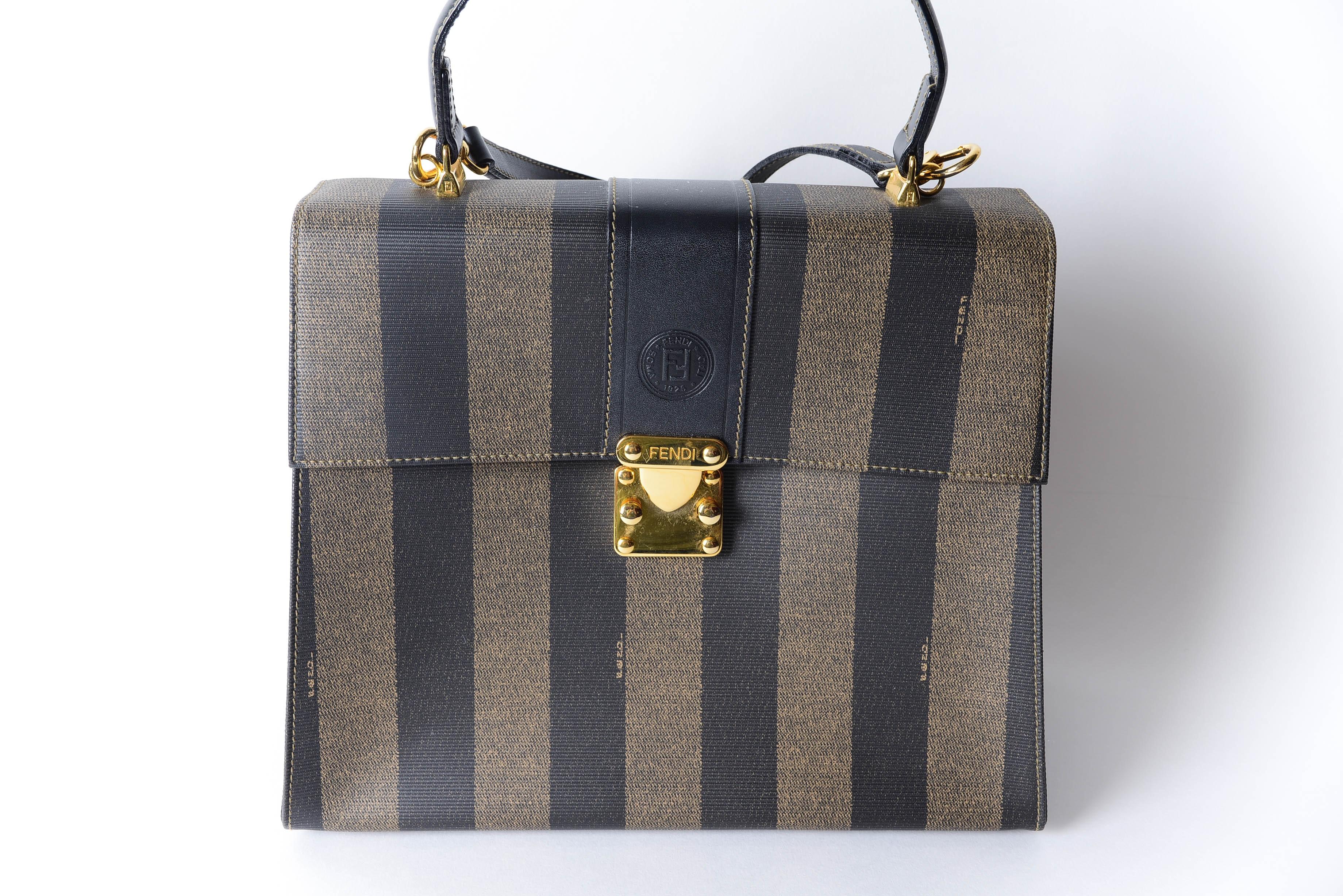 Fendi Striped Shoulder Bag