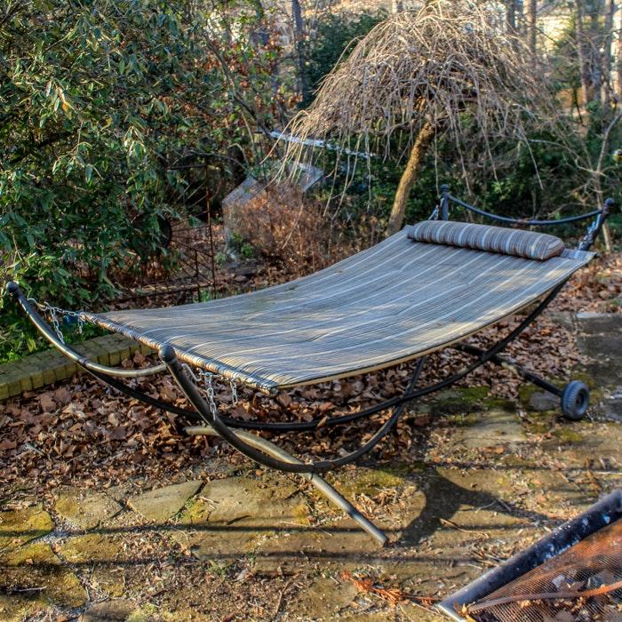 Outdoor Garden Treasures Fabric Hammock With Stand ...