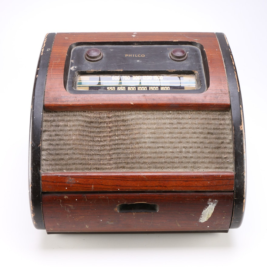 Vintage Philco Bing Crosby Record Player Radio