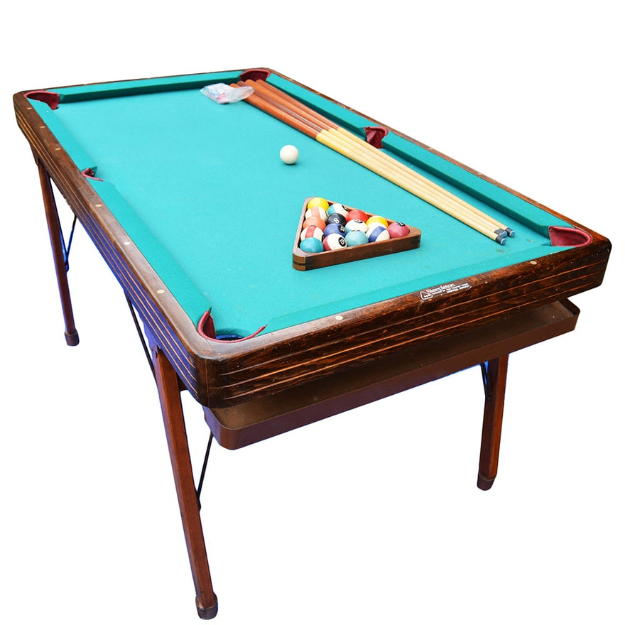 Collapsible Steepleton Pool Table With Accouterments EBTH - Steepleton pool table
