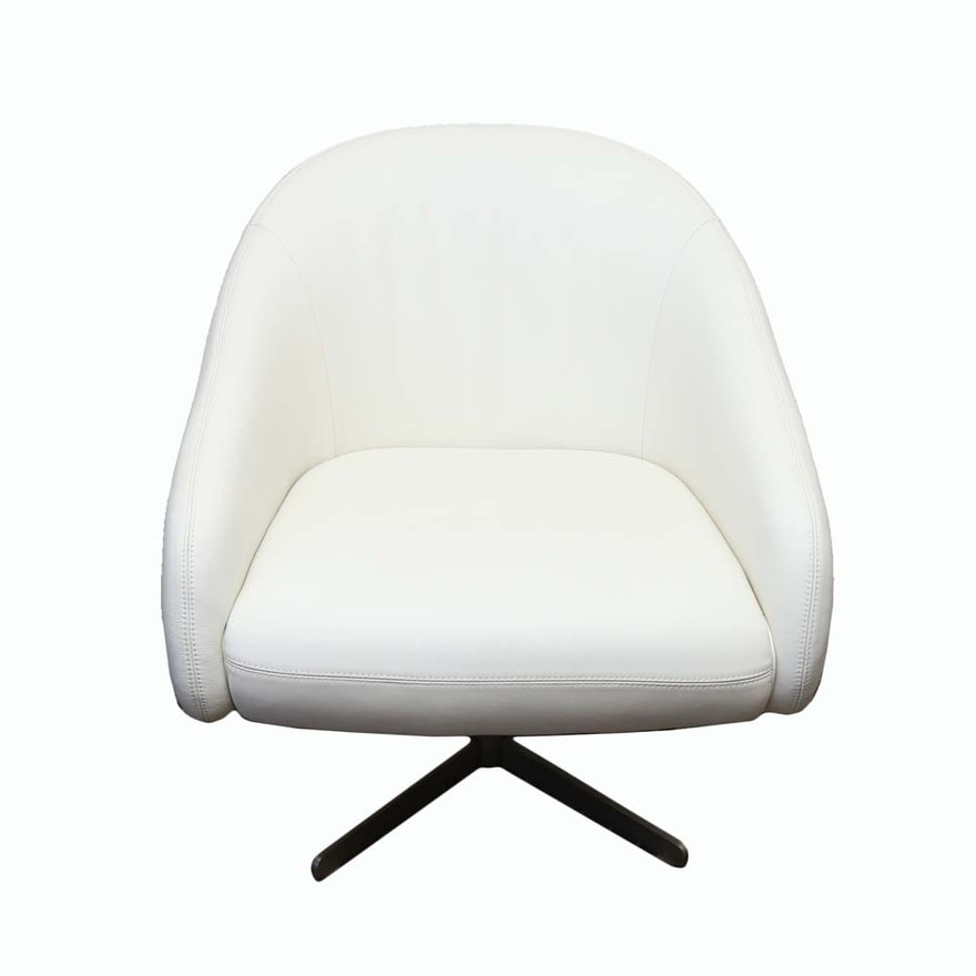 Fabulous Mid Century Modern Style Leather Swivel Chair Caraccident5 Cool Chair Designs And Ideas Caraccident5Info