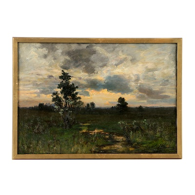 John J. Hammer Oil Painting on Canvas of Landscape
