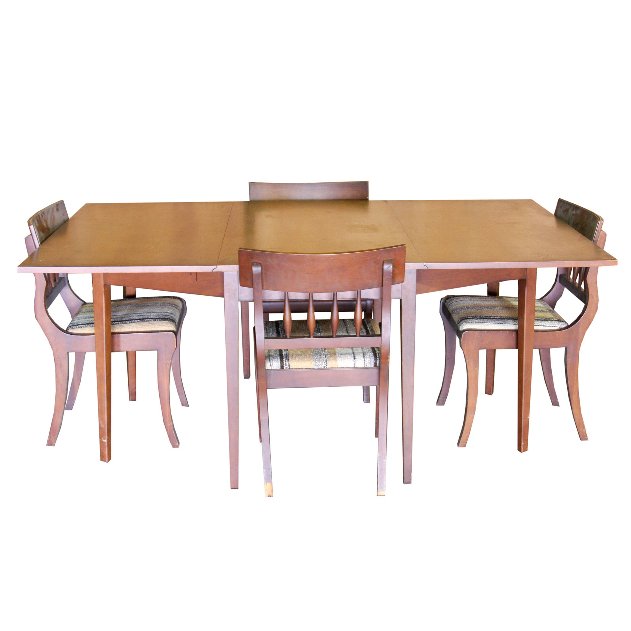 Contemporary Drop Leaf Table With Four Chairs