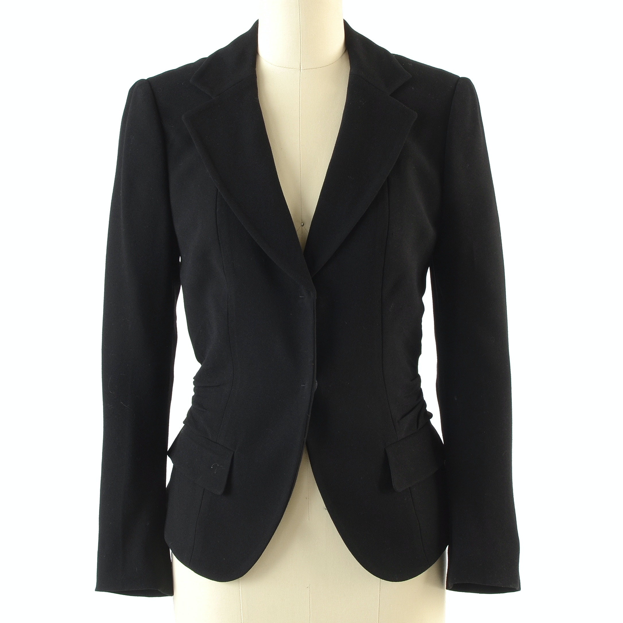 Prada Black Hidden Snap Front Blazer