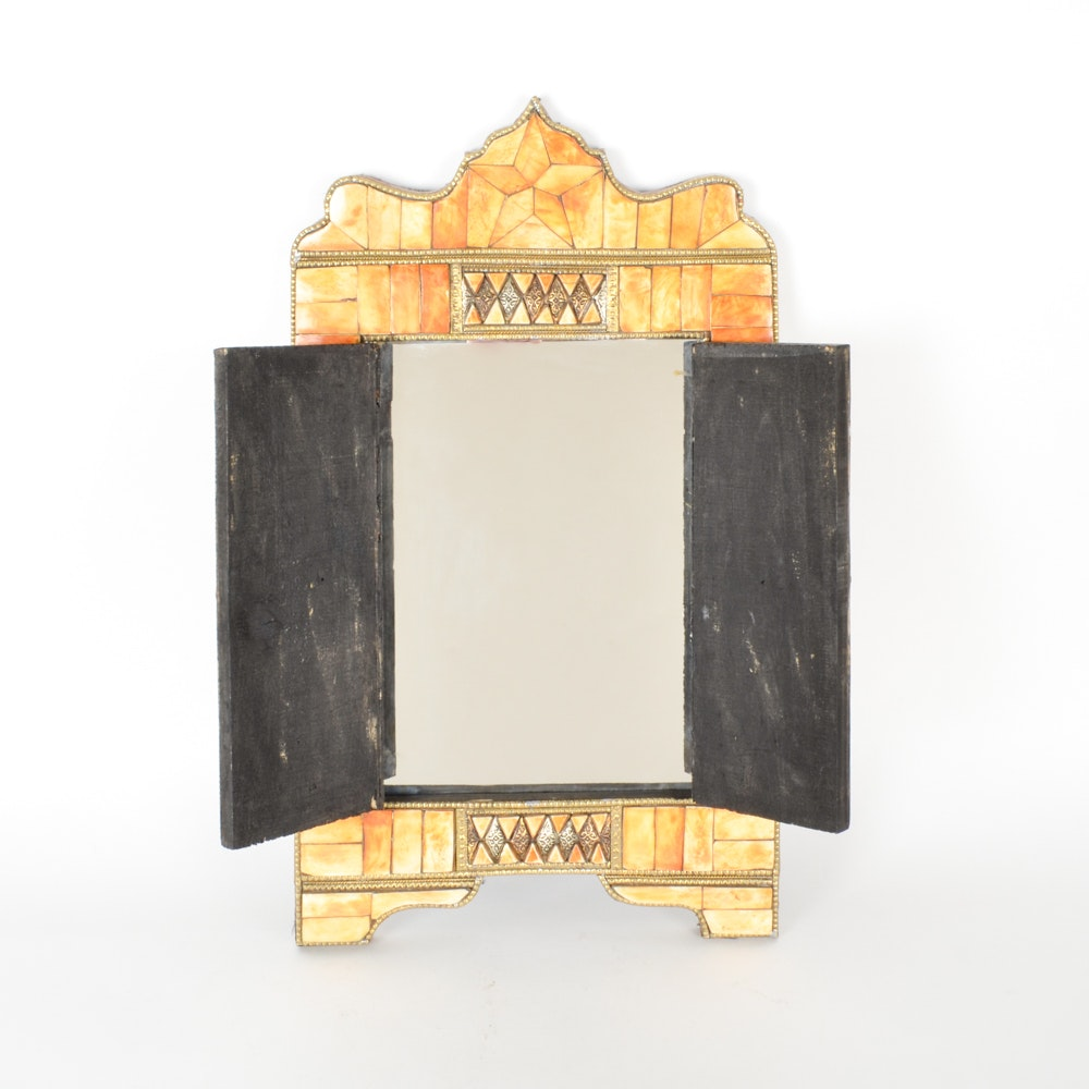 Moroccan Camel Bone Doored Mirror