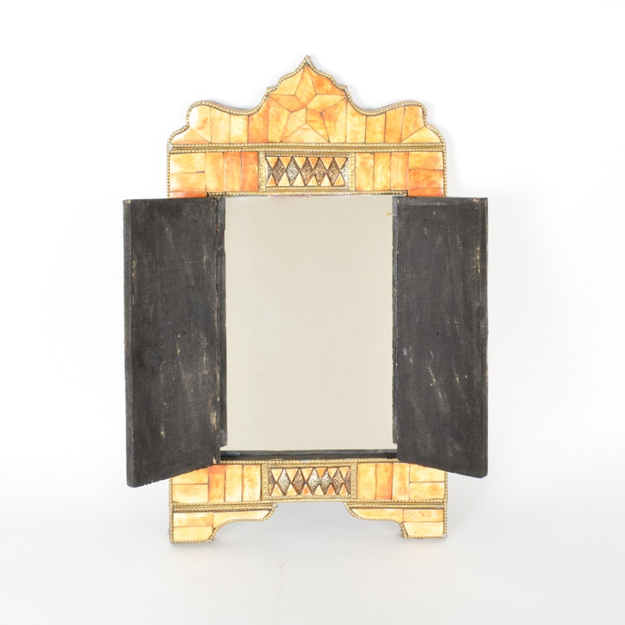 Moroccan Camel Bone Doored Mirror