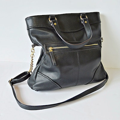 Kate Landry Black Faux Leather Handbag 1adb2be23ac31