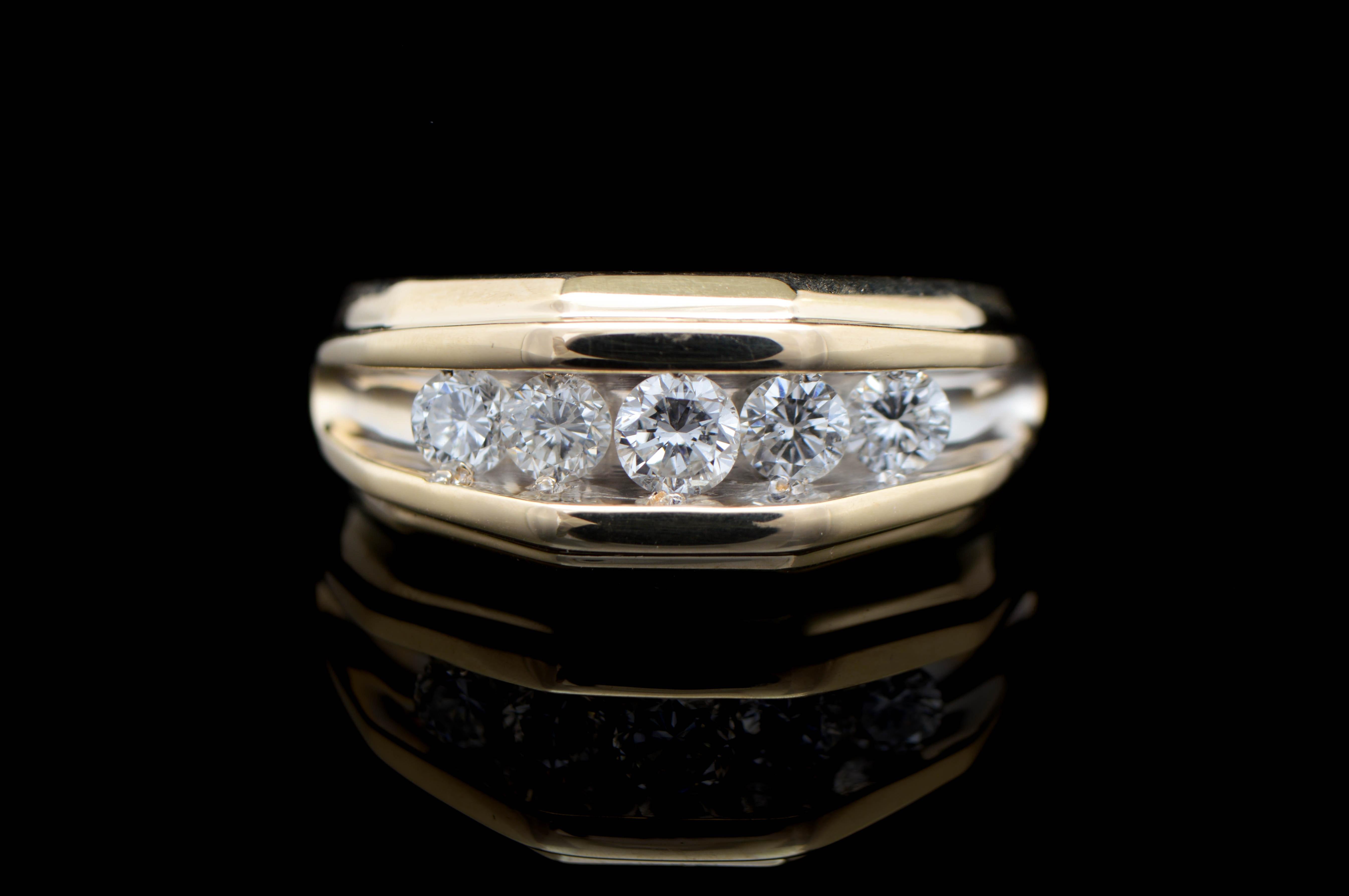1.00 CTW Diamond and 14K Yellow Gold Diamond Ring