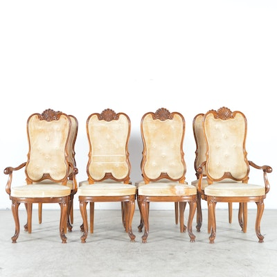 Louis XV-Style Upholstered Dining Chairs - Vintage Dining Furniture Auction Antique Dining Furniture For Sale