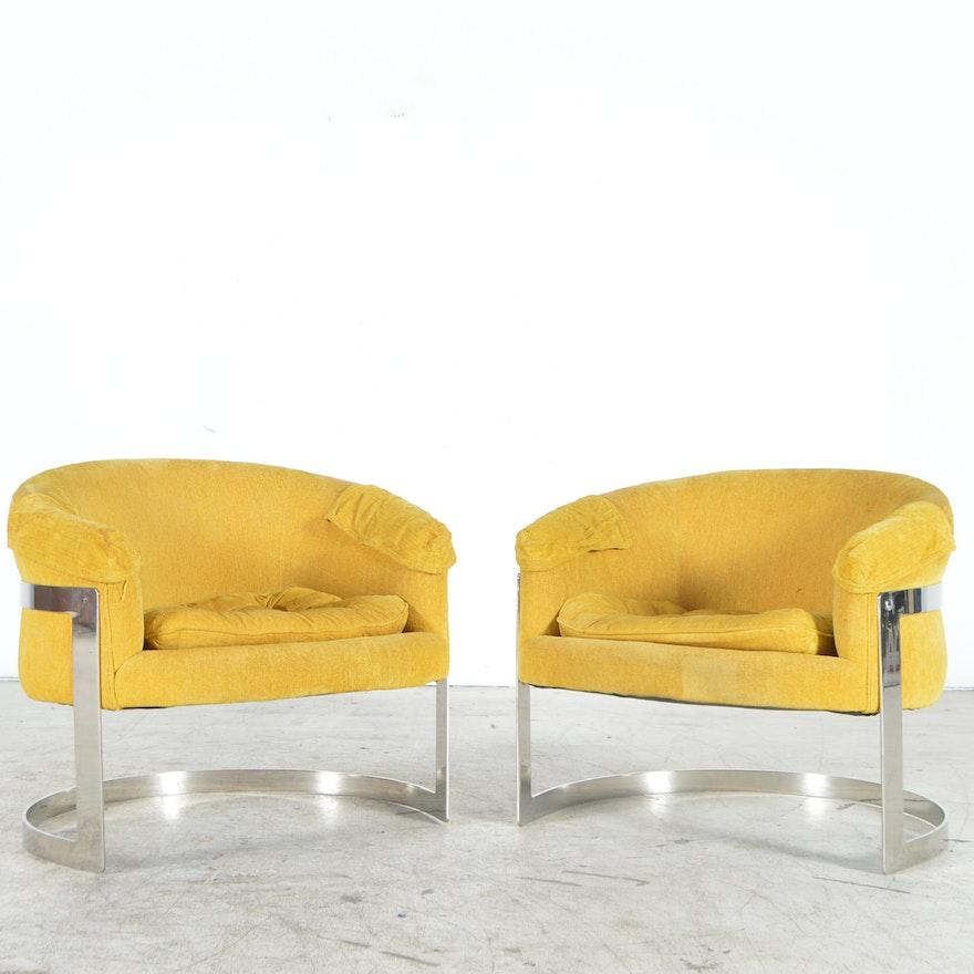 Yellow Mid Century Modern Club Chairs Ebth