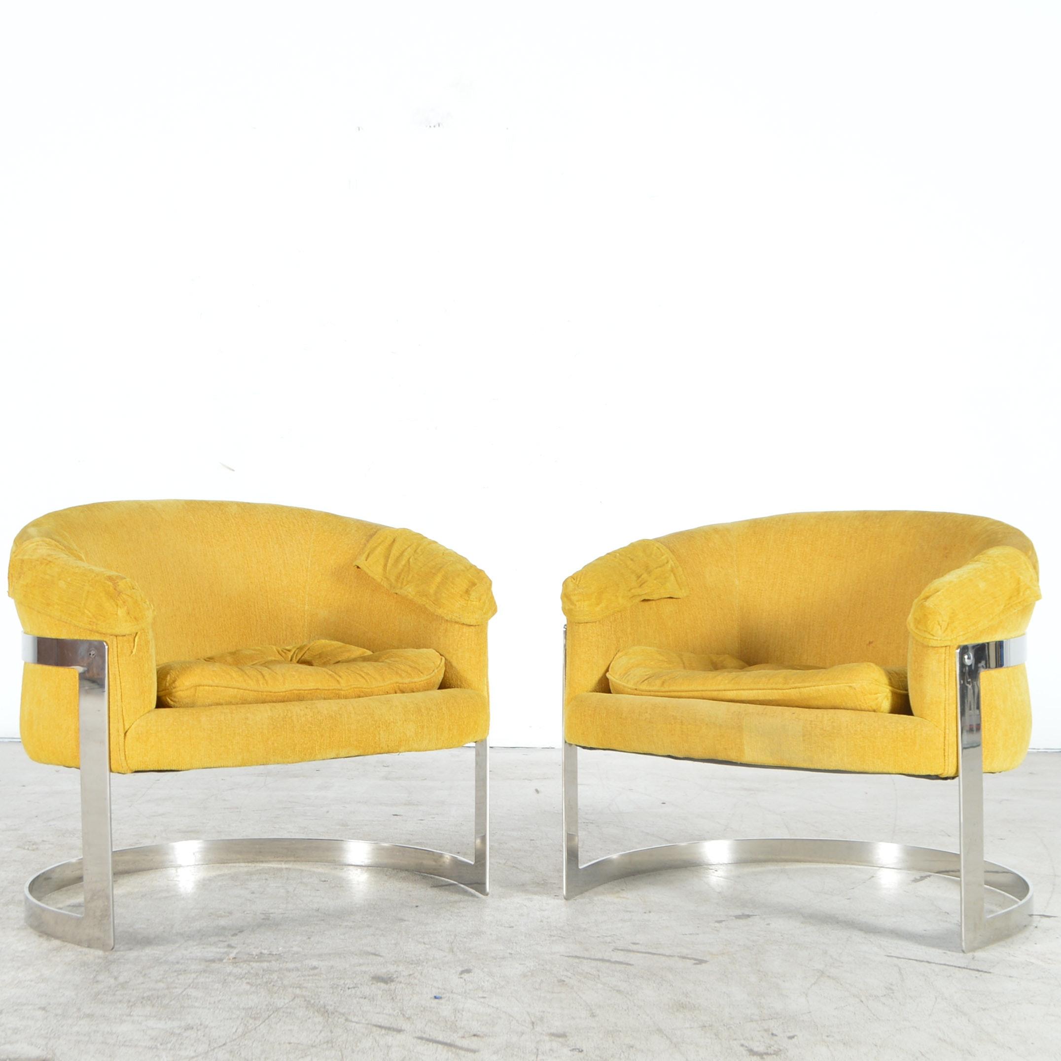 Yellow Mid Century Modern Club Chairs ...